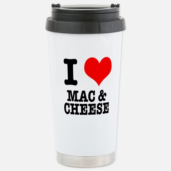 I Heart (Love) Mac & Cheese Stainless Steel Tr