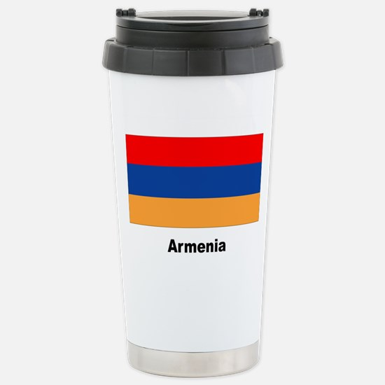 Armenia Armenian Flag Stainless Steel Travel Mug