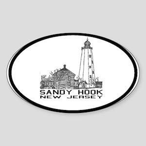 Sandy Hook NJ Oval Sticker