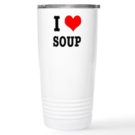 I Heart (Love) Soup Stainless Steel Travel Mug