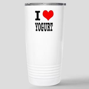 I Heart (Love) Yogurt Stainless Steel Travel Mug