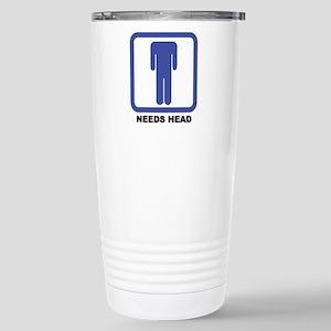 Needs Head Stainless Steel Travel Mug