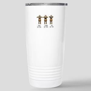 Hear No Evil Monkeys Stainless Steel Travel Mug