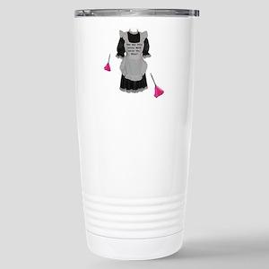 sissy maid Stainless Steel Travel Mug