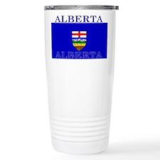 Alberta Albertan Flag Stainless Steel Travel Mug
