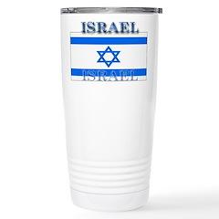 Israel Israeli Flag Stainless Steel Travel Mug