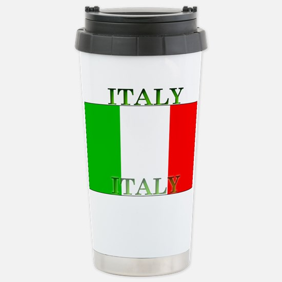 Italy Italian Flag Stainless Steel Travel Mug