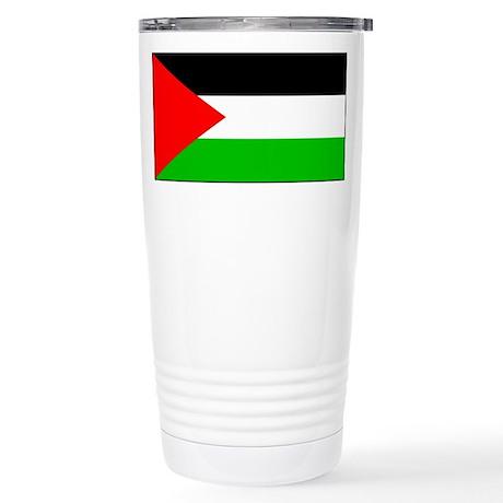 Palestinian Blank Flag Stainless Steel Travel Mug
