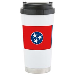 Tennessee Blank Flags Stainless Steel Travel Mug
