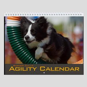 Border Collie Agility Tire Jump Wall Calendar