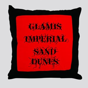 Glamis Red Throw Pillow
