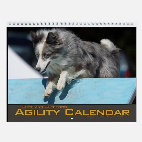 Shetland Sheepdog Agility Wall Calendar