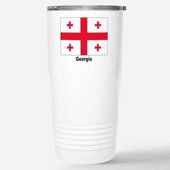 Georgia Flag Stainless Steel Travel Mug