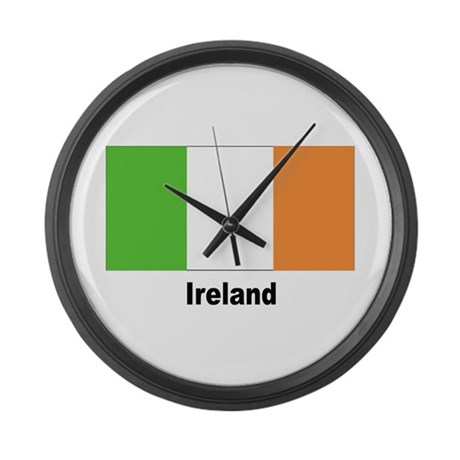Ireland Irish Flag Large Wall Clock