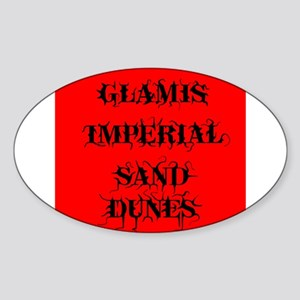 Glamis Red Oval Sticker