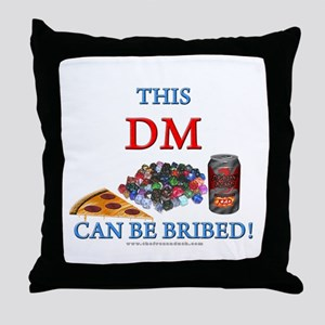 DM - Bribe Throw Pillow