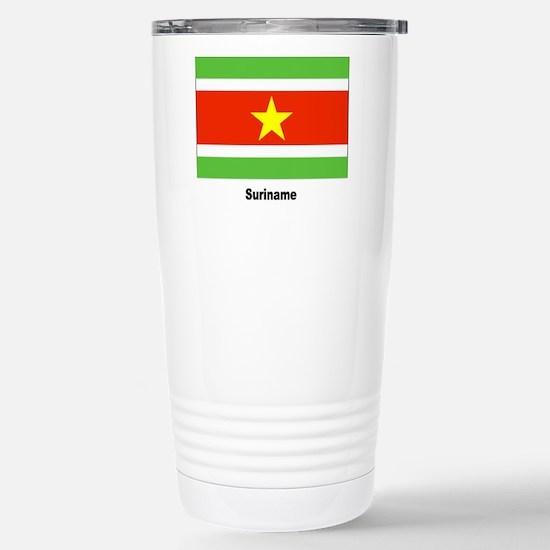 Suriname Flag Stainless Steel Travel Mug