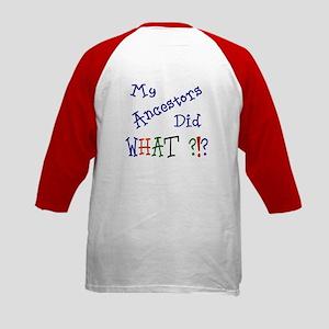 Did What? (blue) Kids Baseball Jersey