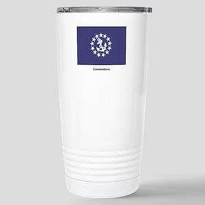 Commodore Flag Stainless Steel Travel Mug