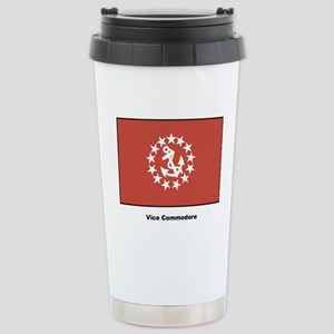 Vice Commodore Flag Stainless Steel Travel Mug