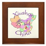 Xiushan China Map Framed Tile
