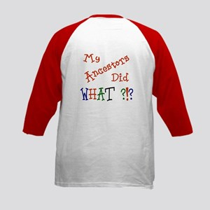 Did What? (red) Kids Baseball Jersey