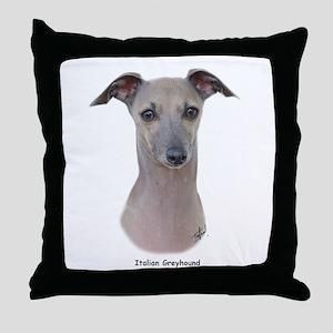 Italian Greyhound 9K75D-11 Throw Pillow