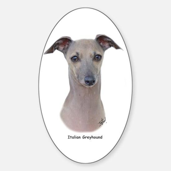 Italian Greyhound 9K75D-11 Sticker (Oval)