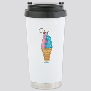 Cotton Candy Ice Cream Stainless Steel Travel Mug