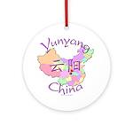 Yunyang China Map Ornament (Round)