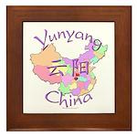 Yunyang China Map Framed Tile