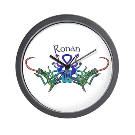 Rpnan's Celtic Dragons Name Wall Clock