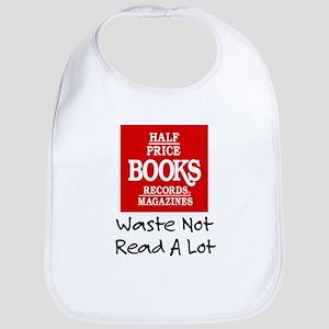 """Waste Not, Read a Lot"" Bib"