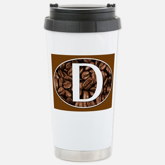 D Monogrammed Travel Coffee Mug Stainless Steel Tr