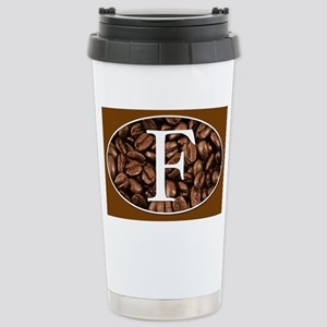 Initial F Personalized Stainless Steel Travel Coff