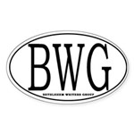 BWG Oval Sticker