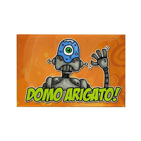 domo arigato Rectangle Magnet (100 pack)