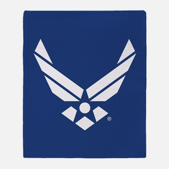 U.S. Air Force Logo Throw Blanket