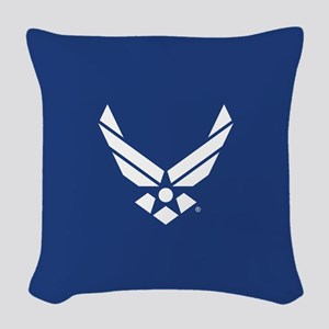U.S. Air Force Logo Woven Throw Pillow