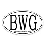 BWG Oval Sticker (10 pk)