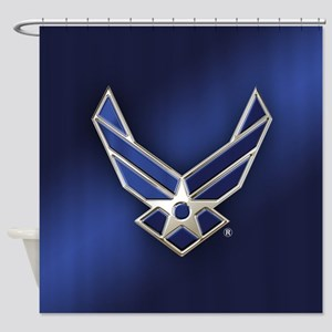 U.S. Air Force Logo Detailed Shower Curtain