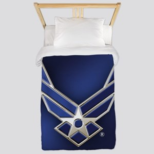 U.S. Air Force Logo Detailed Twin Duvet Cover