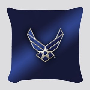 U.S. Air Force Logo Detailed Woven Throw Pillow