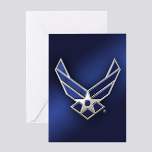 U.S. Air Force Logo Detailed Greeting Card