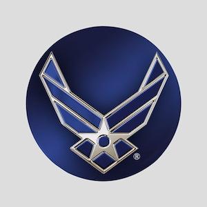 U.S. Air Force Logo Detailed Button