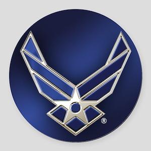 U.S. Air Force Logo Detailed Round Car Magnet