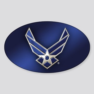 U.S. Air Force Logo Detailed Sticker (Oval)