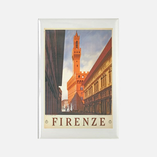 Assisi Travel Poster Rectangle Magnet