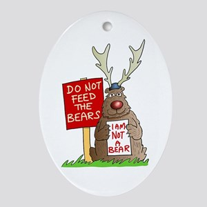 Do Not Feed the Bears Oval Ornament