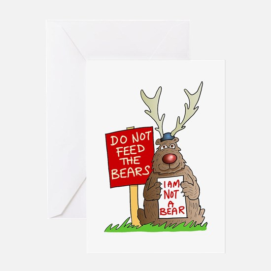 Do Not Feed the Bears Greeting Card